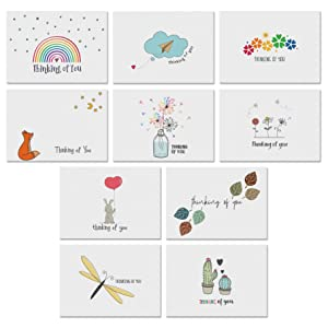 thinking of you cards with greetings inside just because high quality assortment unique