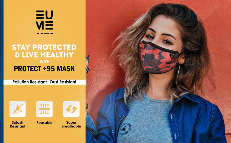 EUME Camo face mask men women mask dust resistant 4 layer face mask washable reusable functional