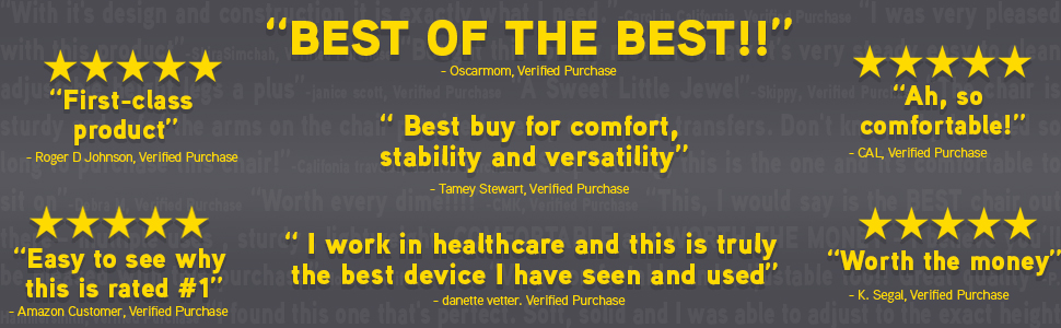 """real quoted reviews taken from verified purchases listed below. One states, """"Best of the best!!!"""""""