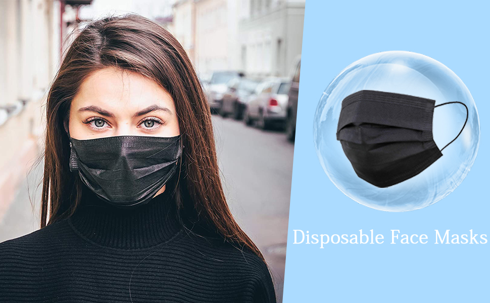 disposable face masks breathable mouth cover non-woven mask-cover with elastic ear loop