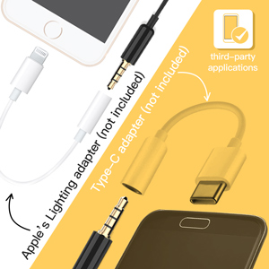 Professional Lavalier Lapel Microphone,Omnidirectional Lapel Mic with Clip-on for iPhone Android
