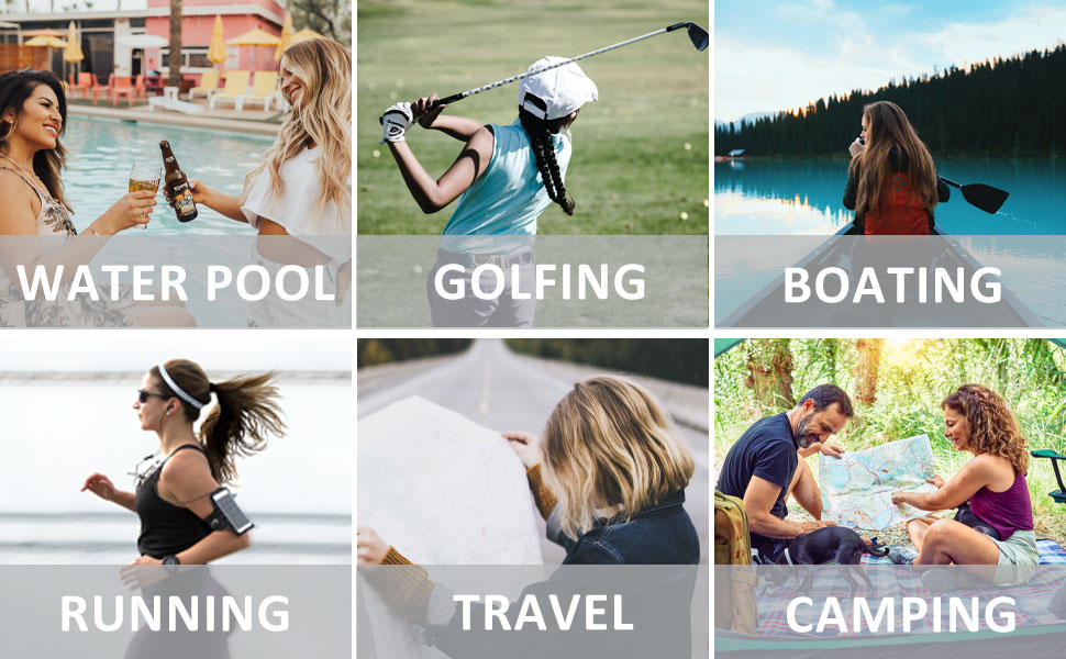 Best-match Summer Accessory, Ideal for water pool, boating, golfing, running, travel, camping