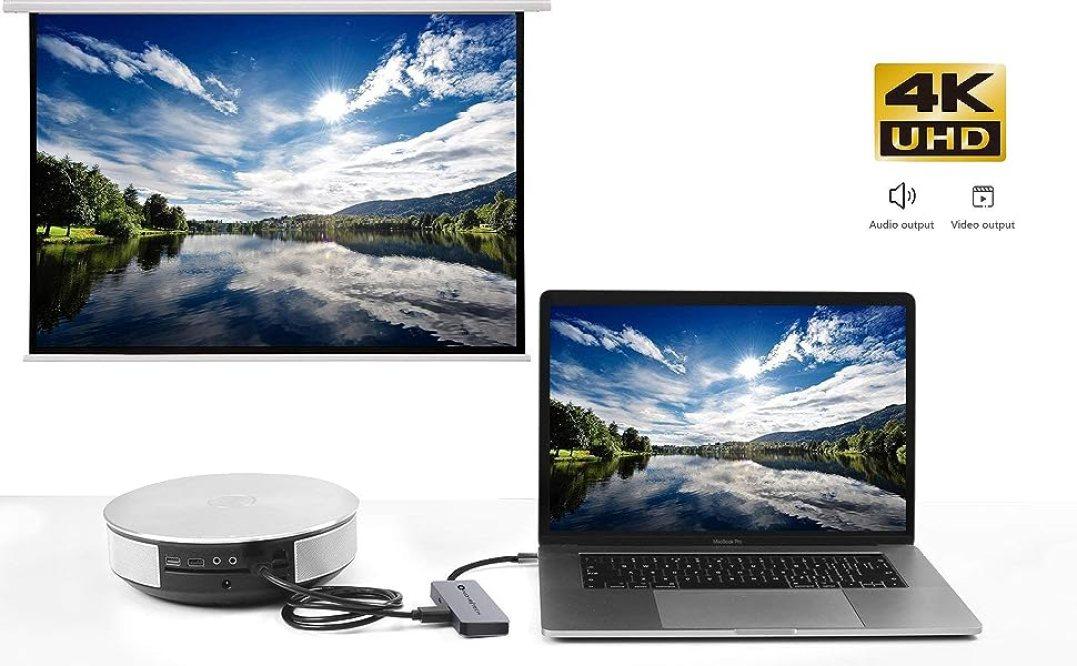 NOV8Tech USB C Hub Type C Adapter Docking Station Dock 4K HDMI for ALL Mac MacBook Pro Air, Dell, HP
