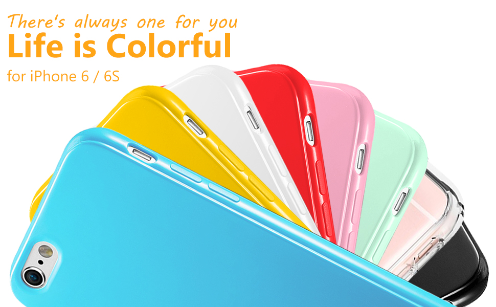 Simple style case, make your iphone colorful.