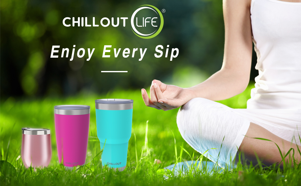 CHILLOUT LIFE Vacuum Insulated Stainless Steel Tumblers