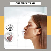 EUME 95 cotton face mask for adults washable face mask reusable& washable 4 layer cotton mask face