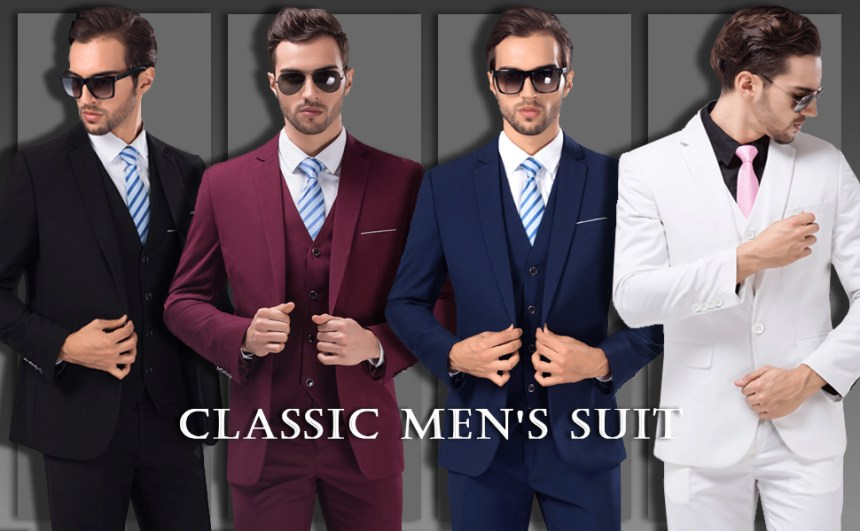 MrSure Classic Men's 3 Piece Suit