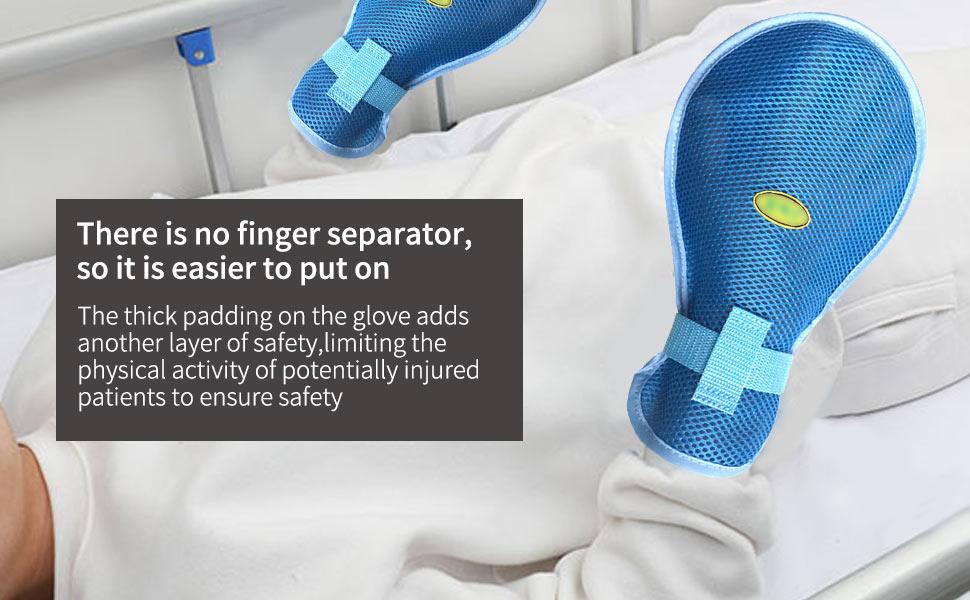 Safety Restraint|Dementia Gloves, Finger Control Mitts for Restraints Patient