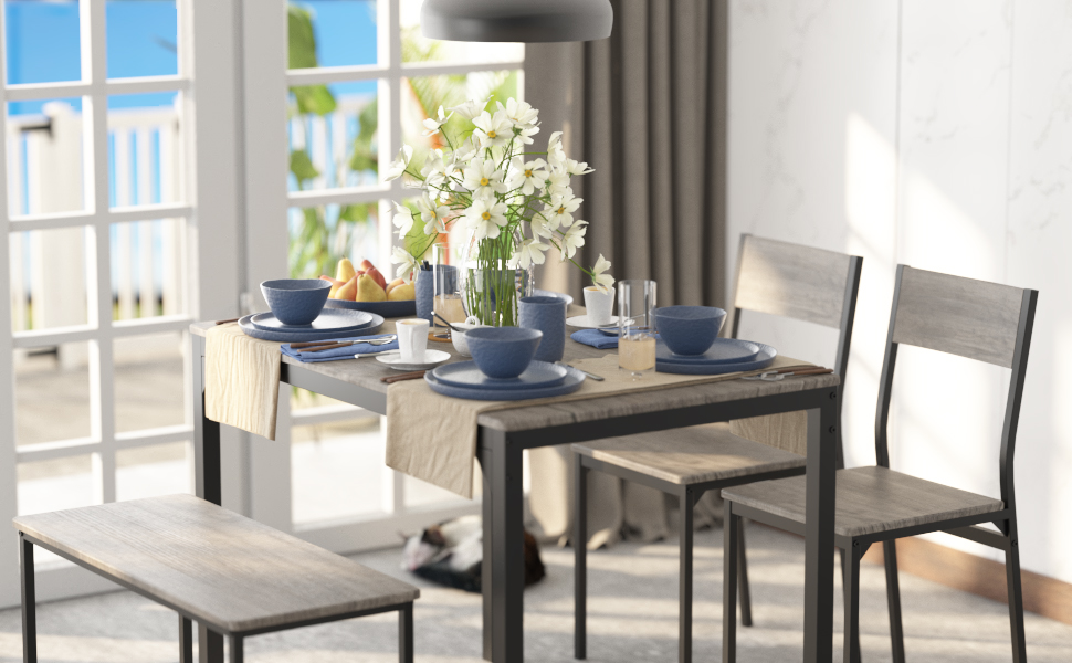dinning table set for 4