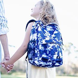 Blue Tie Dye Backpack