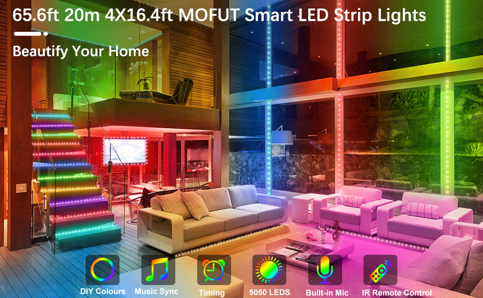 MOFUT Smart LED Strip Lights, Beautify Your Home