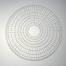 Vassoi in plastica trasparente per l'asciugatura di prodotti alimentari