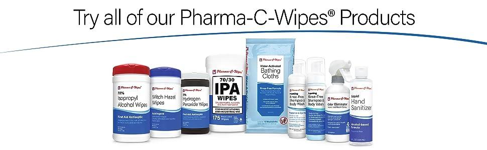 ipa isopropyl alcohol hydrogen peroxide bathing cloths witch hazel wipes shampoo body wash no rinse