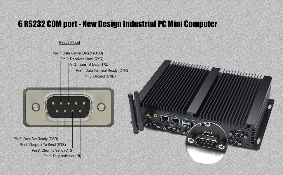 Fanless PC Mini PC Desktop PC