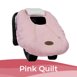 Cozy Cover Pink Quilt, Infant Carrier Cover