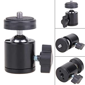 ball head with quick release plate for dslr camera adaptor bracket phone mount monopod tripod stand
