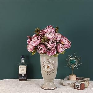 artificial peony flowers vintage decoration
