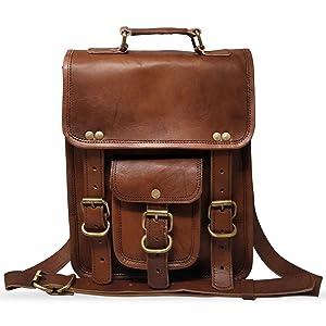Handmade Genuine Vintage Leather Messenger Bag Cross Body Satchel Shoulder Bag Gift for Men Women