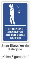 Schilder Himmel Keine Zigaretten