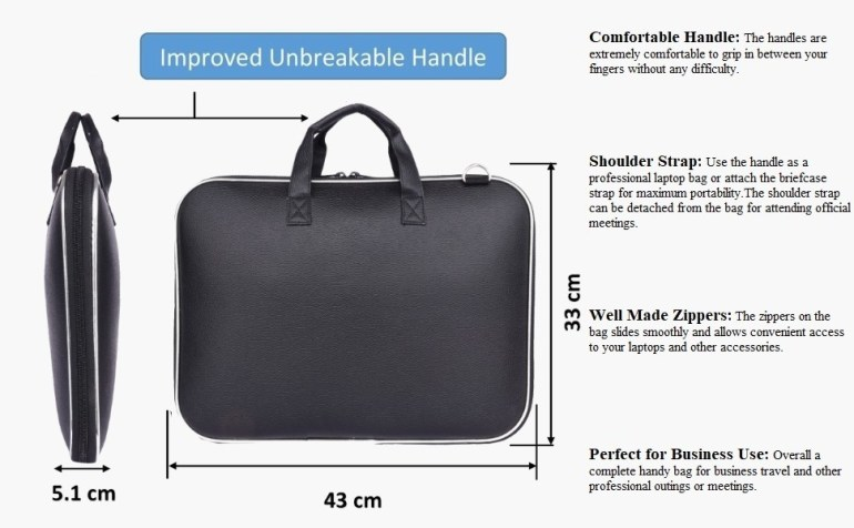 Wearslim Cady Collection Durable Briefcase Carrying