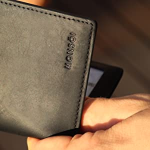 Men's wallet with coin pocket slim wallet leather wallet men's leather wallet gifts for men wallet