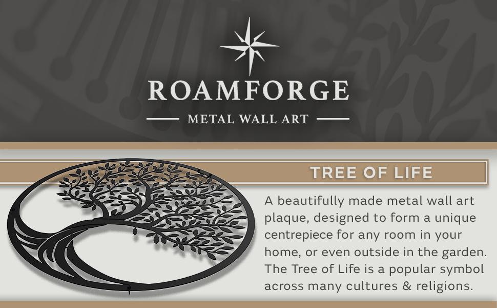 Tree of Life Metal Tree Wall Decor Decorative Wall Art Sculpture Plaque Celtic Haiti Hand Handmade
