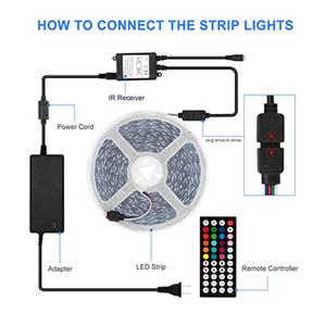 led strip light color changing