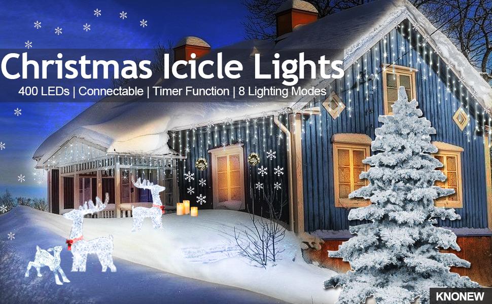 icicle lights christmas led string light