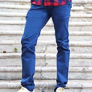 Casual trousers for men;Men's casual trousers;Flat front trouser;Flat front trouser for men;Chino