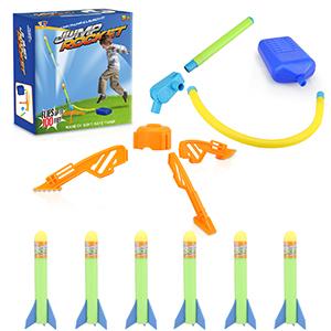 stomp rockets stomp rocket refills nerf rocket launcher rocket toys for kids 3-5 duckura jump rocket