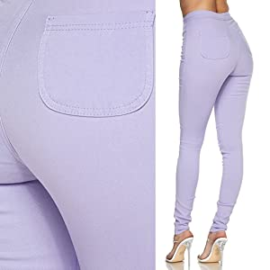 Waisted Stretchy Women Skinny Jeans