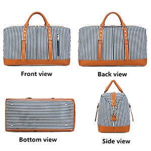 Travel luggage women tote bag with luggage sleeve