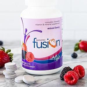 Bariatric Fusion Mixed Berry Multvitamínico bariátrico mastigável completo para cirurgia para perda de peso