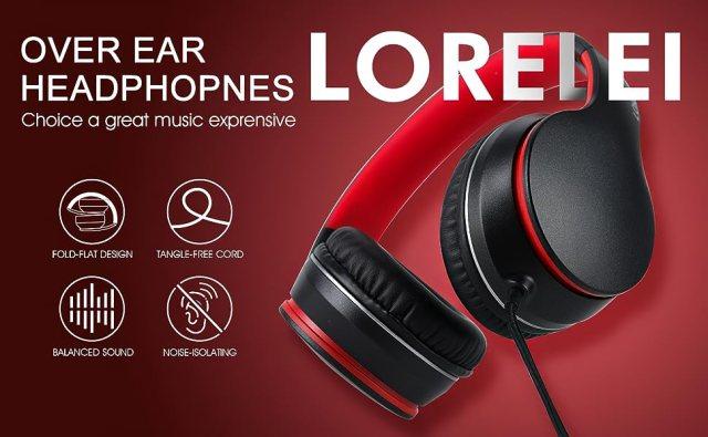 Black-Red headphones