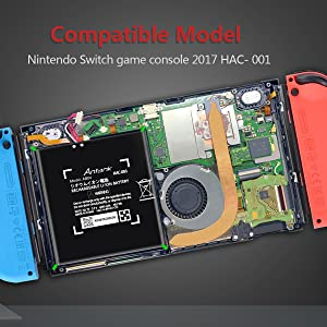 Only compatible with Nintendo Switch HAC-001