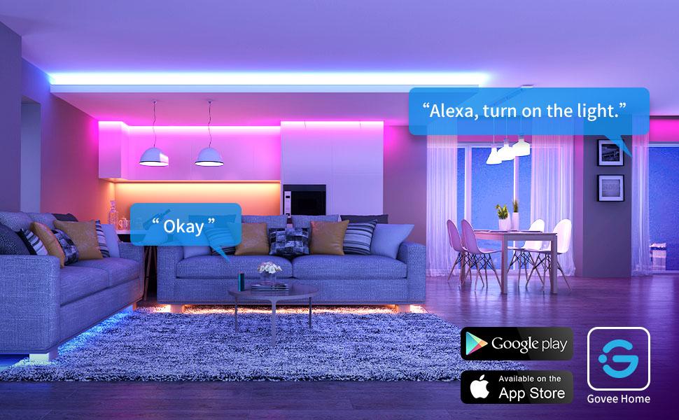 Light strip with Alexa
