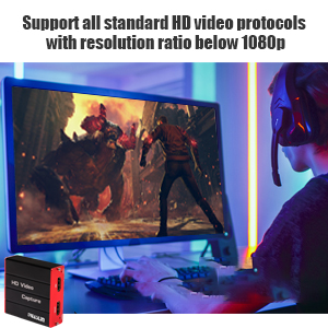 Gaming USB3.0 Capture Card, 1080P 60FPS Video HDMI Capture Card Live Streaming Share for PS4/5