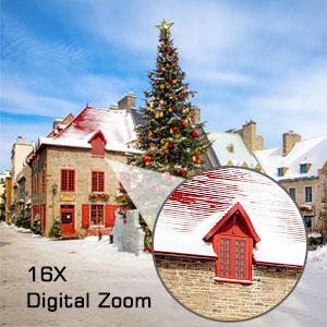 16X Digital Zoom