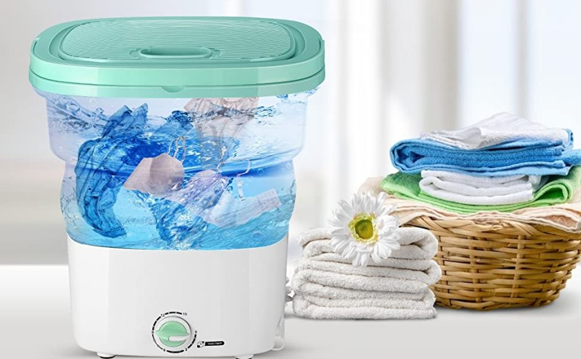Portable,Foldable Compact Ultrasonic Small Automatic USB Powered Cleaning Washer for Travel Home
