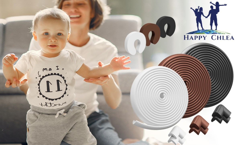Eckenschutz für Kinder, aus weichem Gummi, Kantenschutz