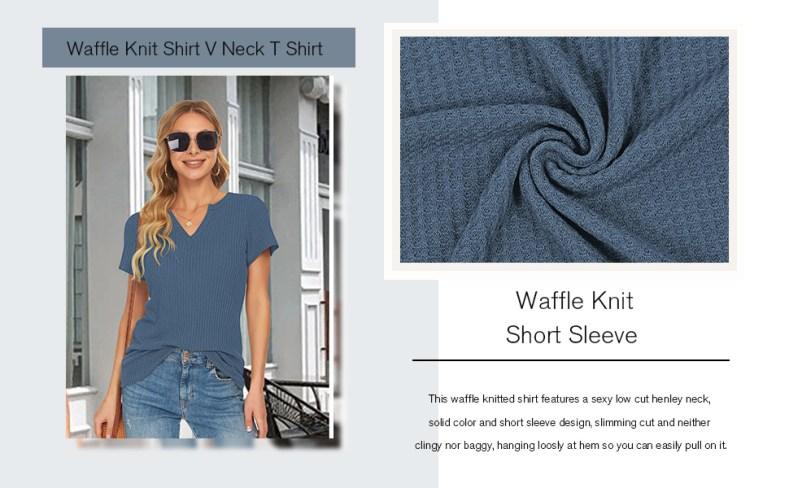 waffle knit short sleeve t shirt