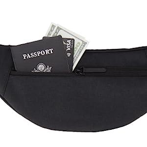 large black fanny pack