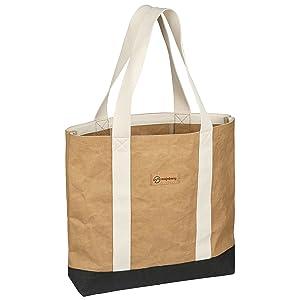 Majnberg Kraft-Papier-Shopper tasche bag beutel vegan umwelt-freundlich nachhaltig strandtasche