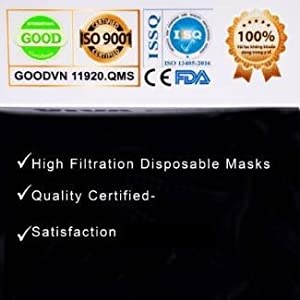 4-ply, disposable 4ply, safety face mask, black face mask