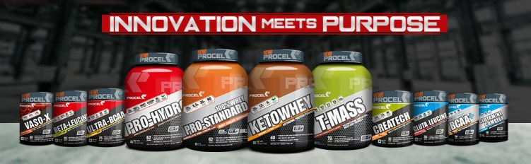 PROCEL Product Range banner, Whey Protein powder, Whey protein Isolate powder, Whey isolate powder