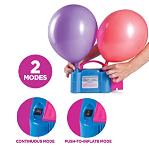 electric balloon pump bulk balloons inflator