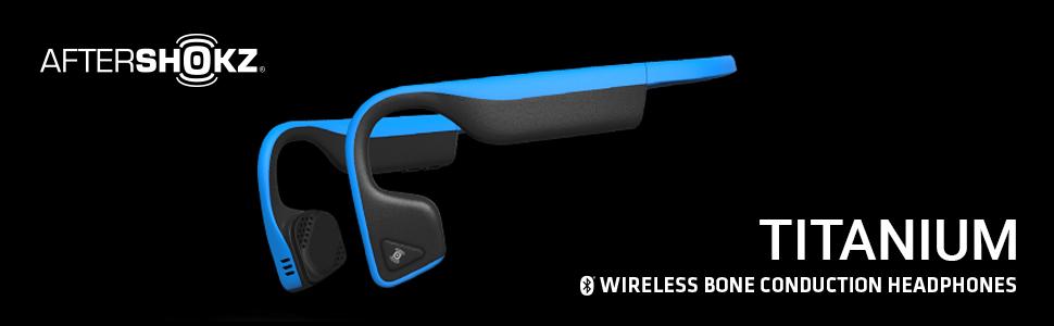 AfterShokz Titanium wireless bone conduction headphones