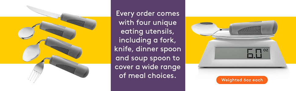 Gray Weighted Bendable Utensils