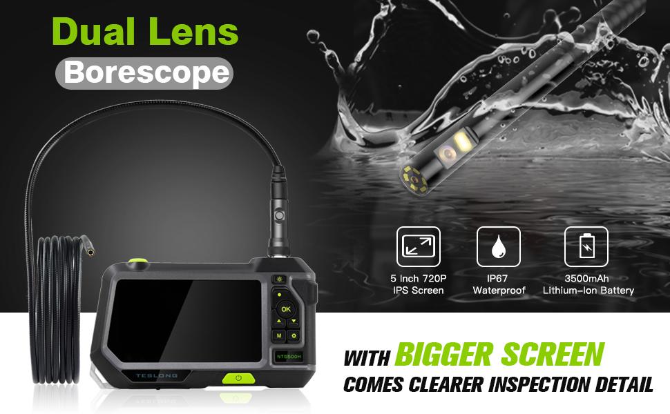 Teslong Çift Lensli Endüstriyel Endoskop