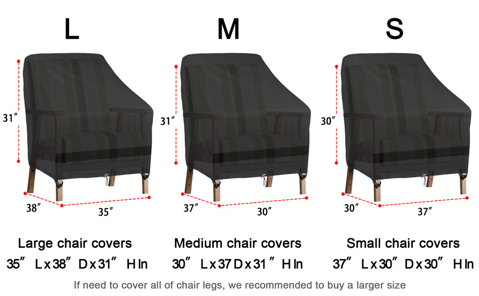 Outdoor patio chair covers